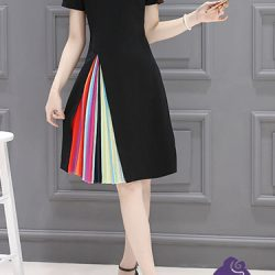 rainbow-flare-dress-front