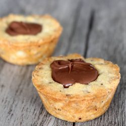 nutella cookie cup